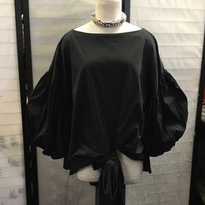 EXAGGERATED puff Sleeve Oversize Top STATEMENT